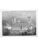 HUNGARY Pecs Catehdral of St. Peter & St. Paul - 1870s Original Engravin... - $30.22