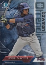 2018 Bowman Mega Box Chrome # Bowman Trending ##-RA Ronald Acuna Braves ... - $33.99