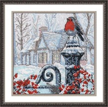 Cross Stitch Kit Hand Embroidery Animals Birds Landscape Winter - $29.00