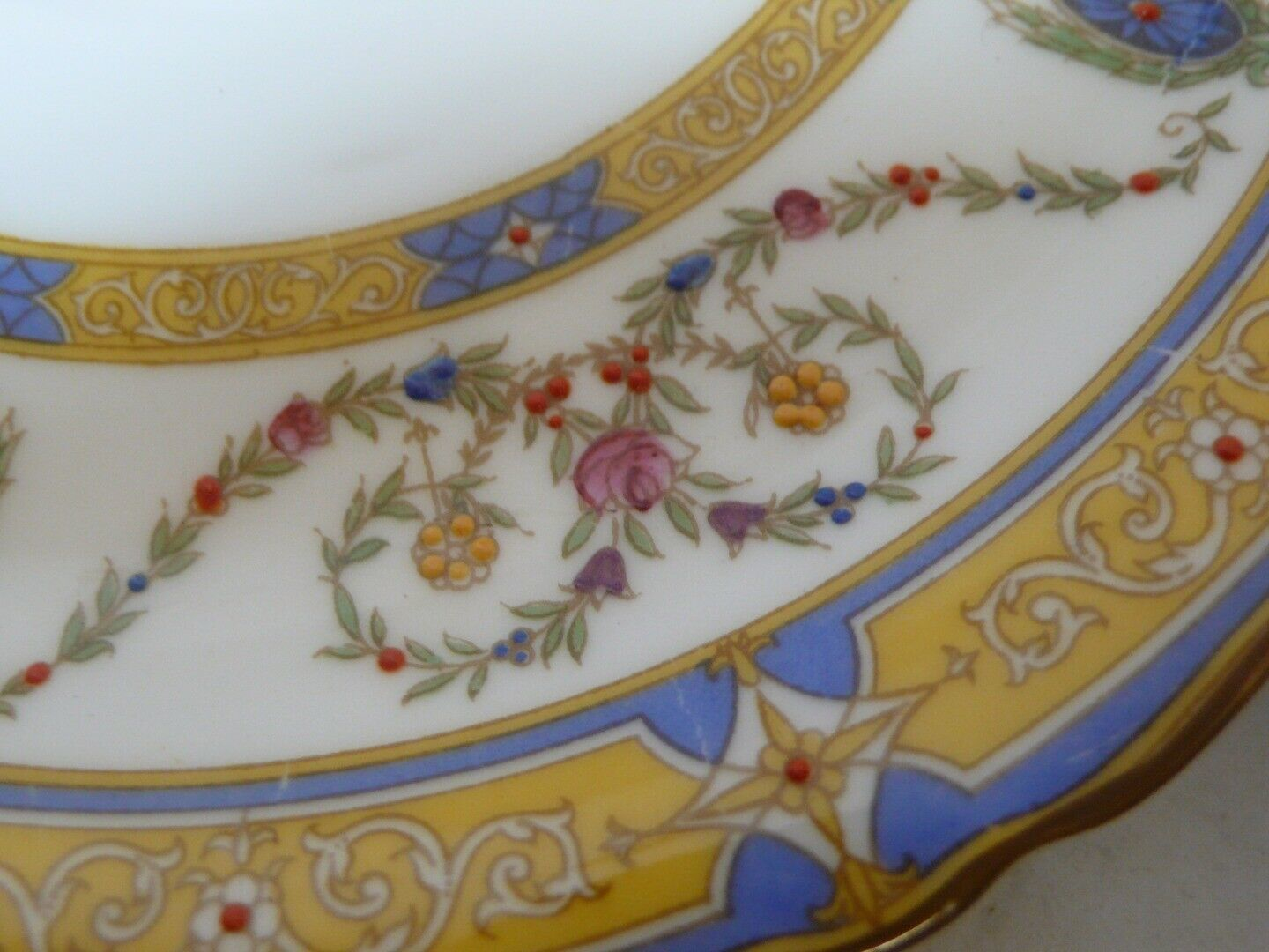 Set of 3 ROYAL WORCESTER Tea Saucers LIFTED Paint MADE IN ENGLAND
