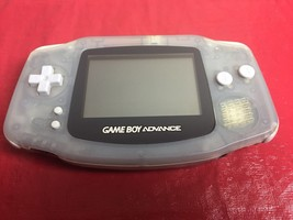 Nintendo Game Boy Advance Glacier Clear System Portable AGB-001 (TESTED ... - $34.60