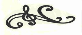 black clef stave score decal ideal cars, trucks, home etc easy to apply