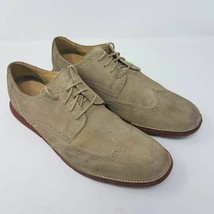 Cole Haan Grand OS Mens Grandsprint Oxford Shoes Brown Lace Up Wingtip 13 M - $50.99