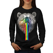 Rainbow Bear Head Jumper Crazy Nature Women Sweatshirt - $18.99