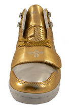 Creative Recreation Womens Gold Silver Cesario Hi Top Gym Shoes Sneakers 6US NIB image 3
