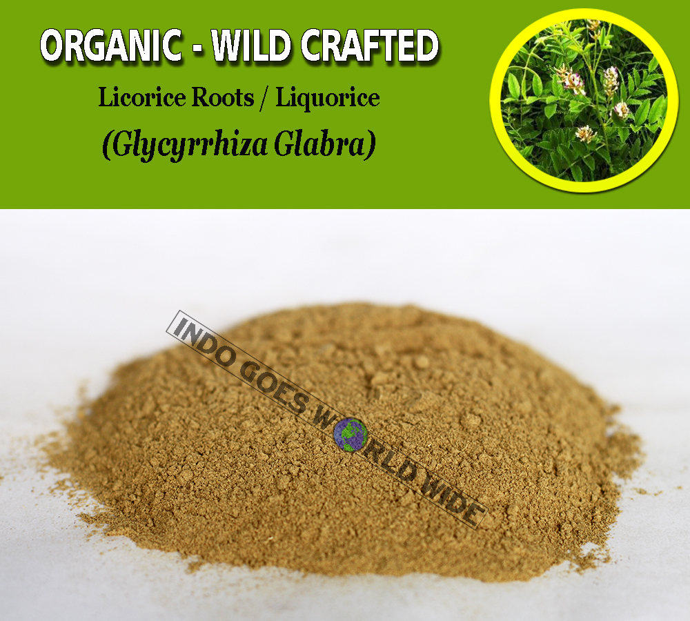 POWDER Licorice Roots Liquorice Glycyrrhiza Glabra Organic Wild Crafted Herbs image 1