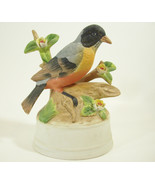 "Eda Mann Bird Porcelain Figurine Sculpture Music Box ""The Way We Were"" V... - $11.83"
