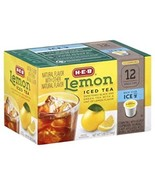 HEB Lemon Iced Tea 12 single cup (servings) - $16.99