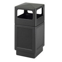 Canmeleon™  Indoor Outdoor Trash Can Recessed Panel Side Open 38 Gallon - $196.99
