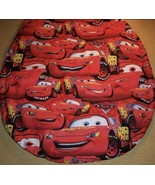 Red Cars Cotton Fabric Toilet Seat Lid Cover Handmade In The USA - $9.89
