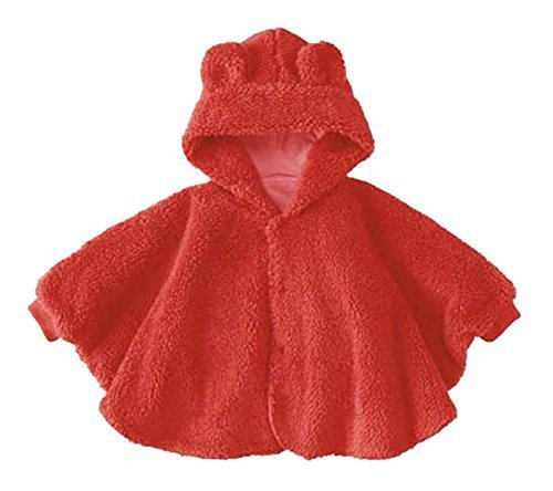 PANDA SUPERSTORE Baby Clothing Baby Cloak Shawl Thick Blankets Bear RED Cloak