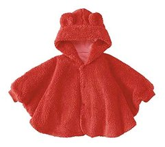 PANDA SUPERSTORE Baby Clothing Baby Cloak Shawl Thick Blankets Bear RED Cloak image 1