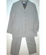 Nice Womens Blazer Jacket Pants Office Kasper ASL Suit Gray Tan 14 Top B... - $138.00