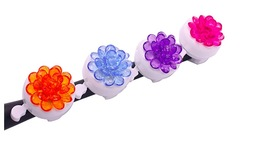 bike bell with plastic flower Aluminum Alloy Cycling Safety Riding Alarm Ring - $6.00