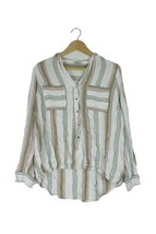 George white pink & green striped blouse top Size 12 - $13.59