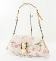 Auth CHRISTIAN DIOR Pink Trotter Canvas and Chain Shoulder Bag Purse #31323 - $429.00