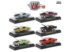 Detroit Muscle 6 Cars Set Release 37 IN DISPLAY CASES 1:64 Diecast Model... - $58.46