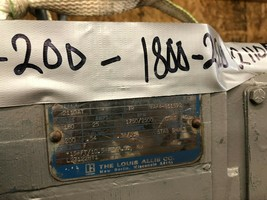 Louis Allis TR Motor 1750/2500 RPM 180V 25 Amps Remanufactured image 2