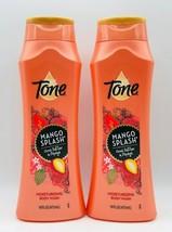 2 x Tone MANGO SPLASH Cocoa Butter & Papaya Moisturizing Body Wash 16 oz... - $18.99
