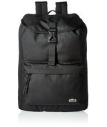 Lacoste Men's Flap Backpack Black - $2.235,10 MXN