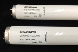 Light Bulbs Sylvania A 458 Gro - Lux Aquarium Pair Set 2 WORKS Fluorescent - $34.64
