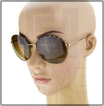 OLIVER PEOPLES BLONDELL Gold Titanium Brown Polarized Round Sunglasses OV 1102ST image 3
