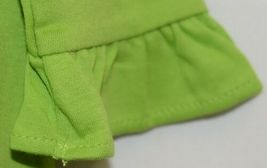 Blanks Boutique Long Sleeve Empire Waist Lime Ruffle Dress Size 5T image 4