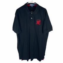 Polo Ralph Lauren PRLC Crest Shirt Men's XL Black Red 100% Cotton Knit S/S - $29.60