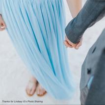Light Blue Long Tulle Skirt Floor Length Blue Wedding Tulle Skirt Bridesmaid image 8