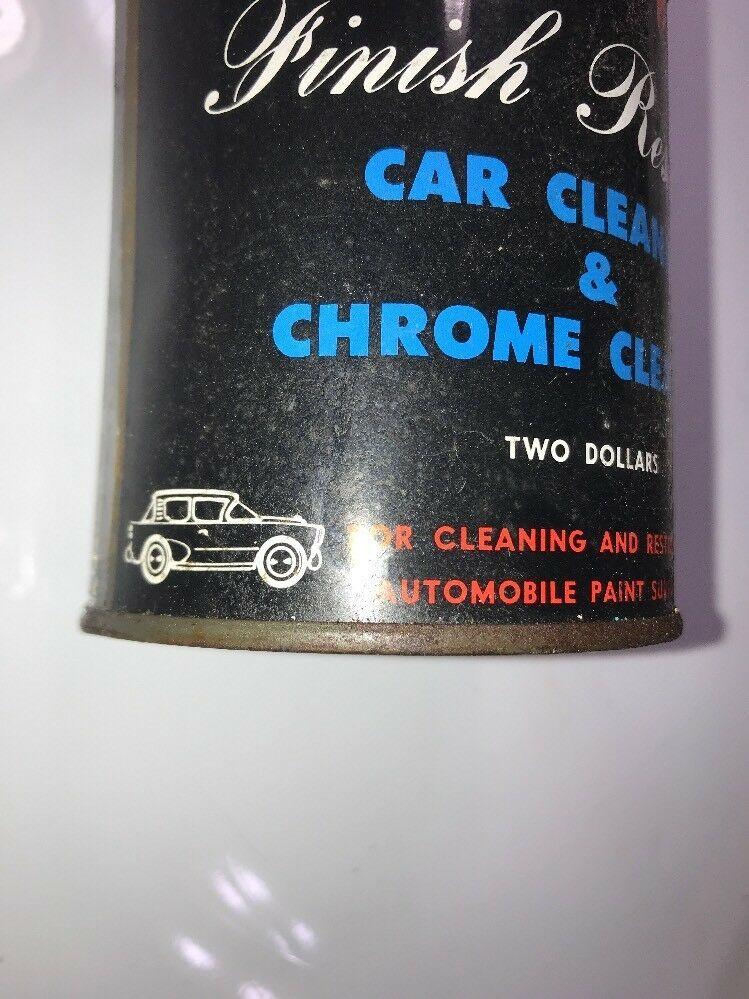 Classic Car Finish Restorer Car Cleaner & Chrome Cleaner Two Dollars Vintage TIN image 2