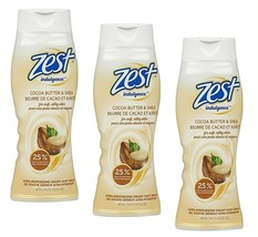 (Lot 3) Zest Cocoa Butter & Shea Ultra Moisturizing Creamy Body Wash 16.5 Oz Ea - $34.64