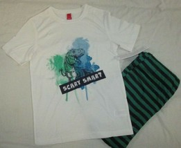 Boys NWT Target short sleeve top fleece pants bottoms Pajama Set dinosau... - $11.57