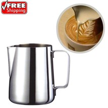 Stainless Steel Milk Frother Pitcher Jug for Latte Coffe Frothing Barist... - $7.43+