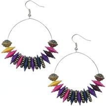 Multicolor Large Disk Hoop Earrings - $13.80