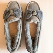 UGG Ansley Bow Moccasin SLIPPERS ~ GEYSER Gray Women's Size 9 New Box EU... - £73.99 GBP