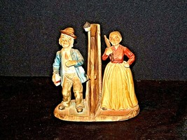 Vintage Man and Woman with God Bless Our Home Figurine AA19-1436 image 2