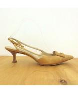 39.5 / US 9.5 - Manolo Blahnik Tan Pointed Toe Strappy Slingbacks w/ Box... - $70.00