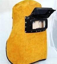 BADASS SHARKS Comfortable Leather Welder Welding Protective Gear Mask Wo... - $20.50