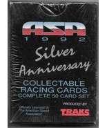 ASA silver Anniversary Racing Trading Cards Factory Set 1992 TRAKS SEALE... - $14.50