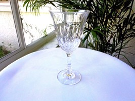 Fostoria Kimberly Pattern Clear Crystal Wine Glass c 1972 - 1982 - $18.80