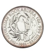 1991 Australie Argent 1oz Kookaburra (Bu État) Km #138 - £49.35 GBP