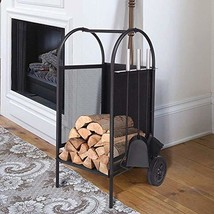 ART TO REAL Firewood Rack Log Cart with Large Wheels, Firewood Mover wit... - $85.05