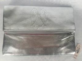 NEW $68 Victoria's Secret Anniversary Silver Fold Over Angel Clutch Bag - $15.99