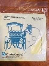 Vtg Cross Stitch Charles Craft Inc Horse And Buggy - $7.99