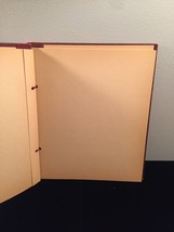 Vintage 50s rope bound scrapbook covers with some blank pages inside image 4