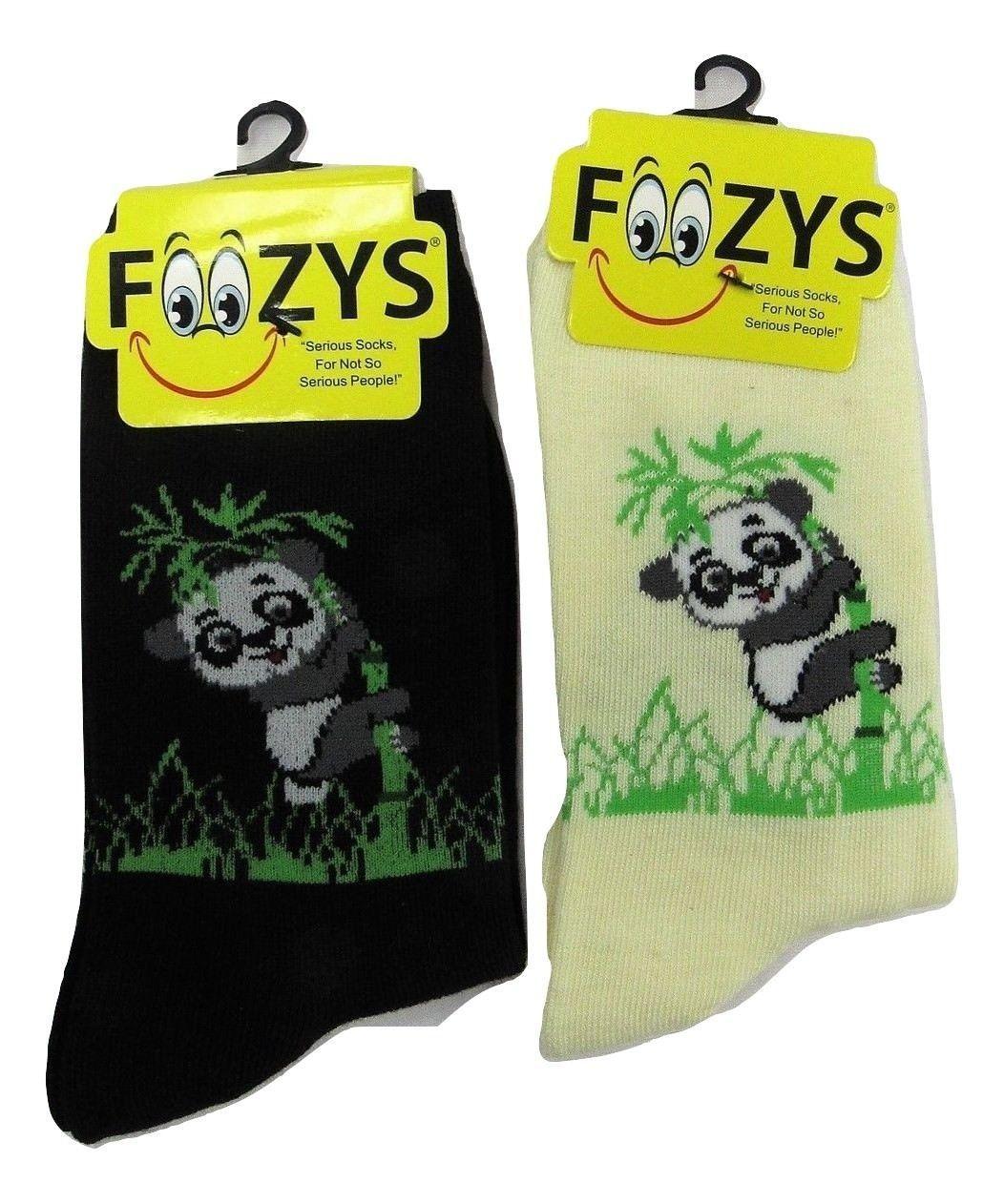 Foozys Owl Family Tree Fun Novelty Socks Ladies//Girls 2 Pair 1 Black+1 Gray Sox