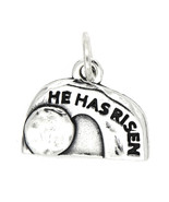 STERLING SILVER HE HAS RISEN JESUS EMPTY TOMB CHARM PENDANT - $9.49