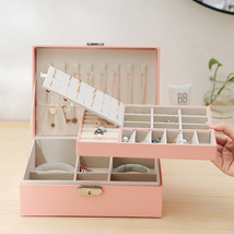 Portable Jewelry Box with Earrings Organizer Double layered Jewelry Orga... - $38.00