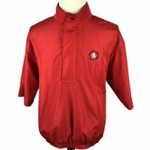 FootJoy DryJoys Short Sleeve Golf Jacket Pullover Medium Red Black Rain 1/2 Snap - $39.50