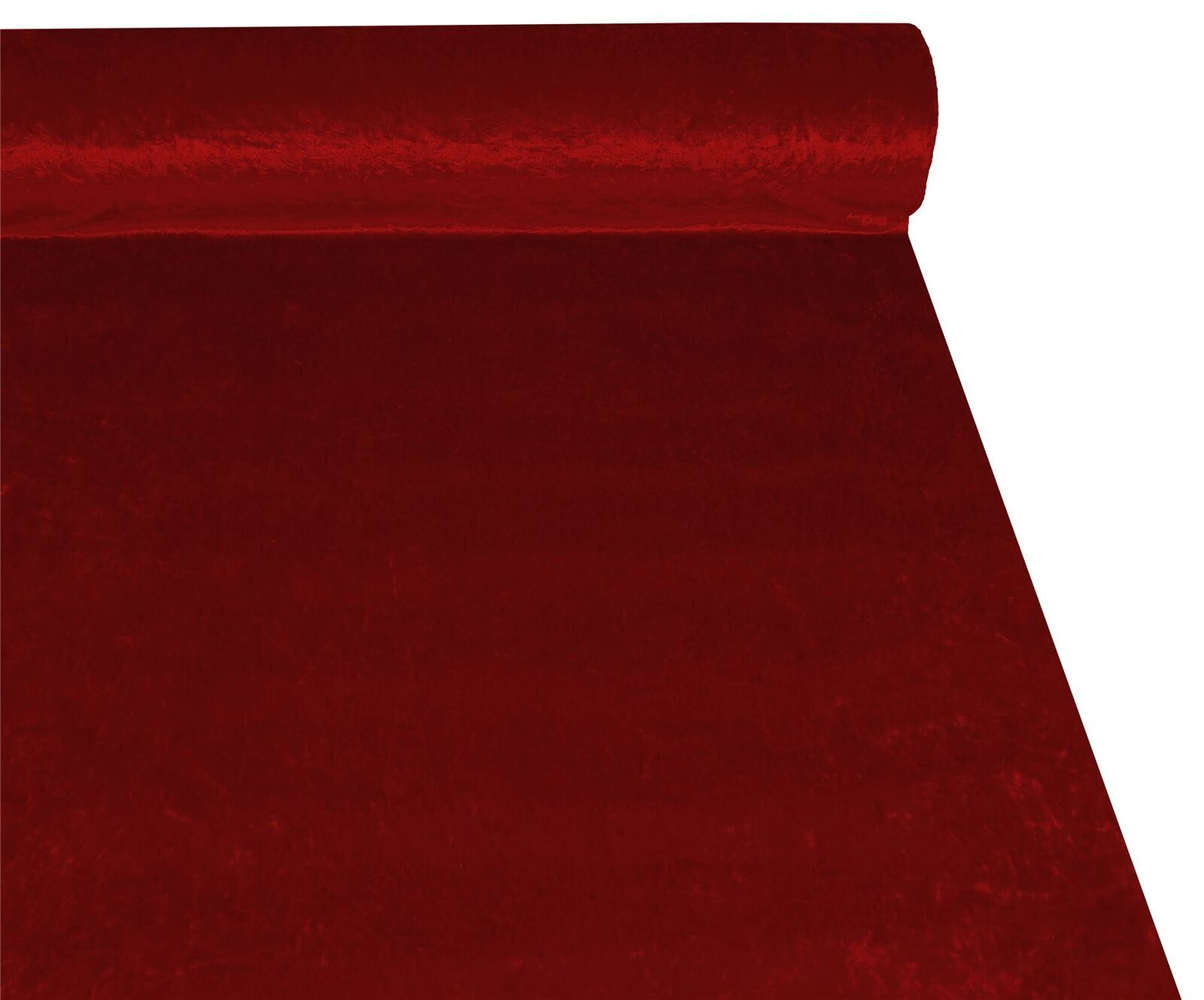 Ruby Red Crushed Velvet High Quality Fabric Material 3 Sizes